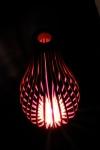 Steam bent Cedar floor light.
