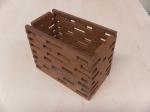Red wood box.
